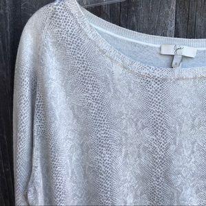 JOIE Snake Print Soft Crewneck Sweater Size S